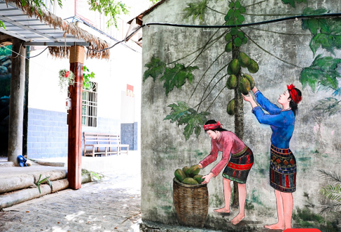 Sanpai village in Changjiang a picturesque 'Li Culture Museum'