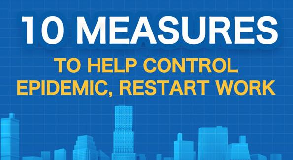 10 measures to help control epidemic, restart work
