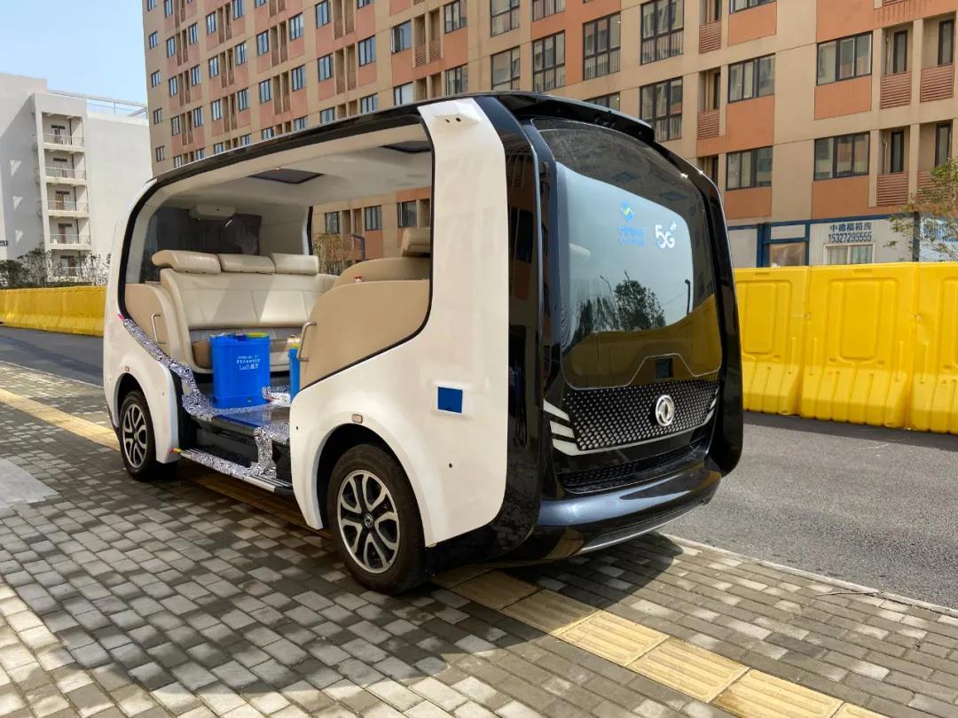 無人消毒車が武漢開発区で初応用