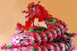 Changxing hundred-petal dragon dancing
