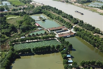 Tail water processing area built in Huzhou