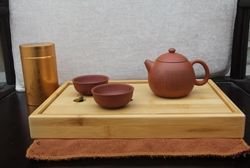 Changxing dark-red enameled pottery