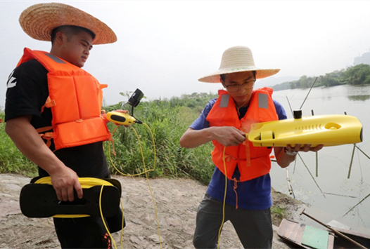 Robot launched in Deqing to monitor water quality