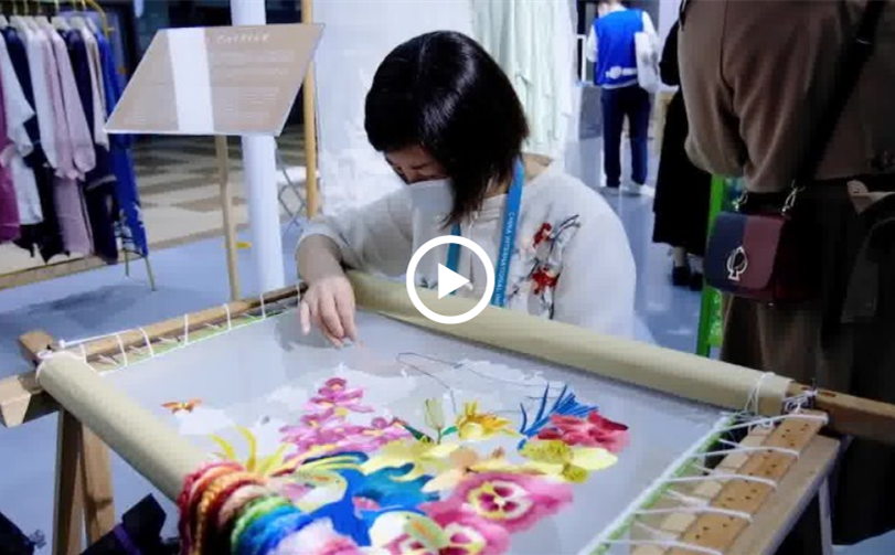 Expat explores Chinese culture at CIIE