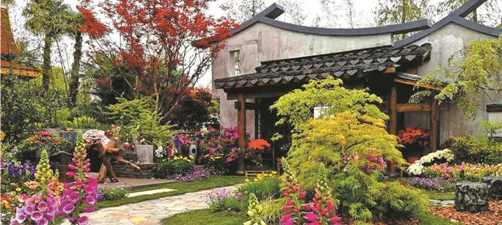 Huishan Ancient Town wins top award at intl flower show