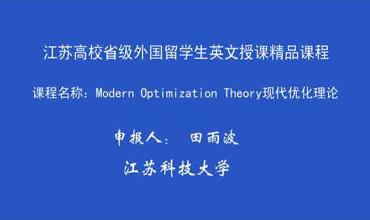 Modern Optimization Theory