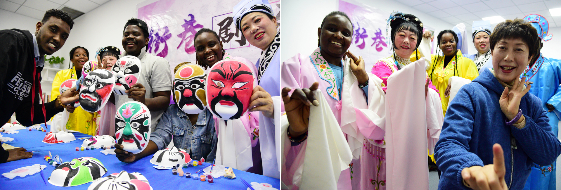 Intl students in Zhenjiang observe World Theater Day