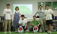 Jiangsu university team 3rd in global robot soccer competition