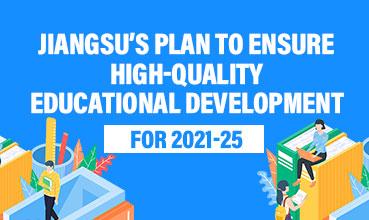 Jiangsu's plan to ensure high-quality educational development for 2021-25