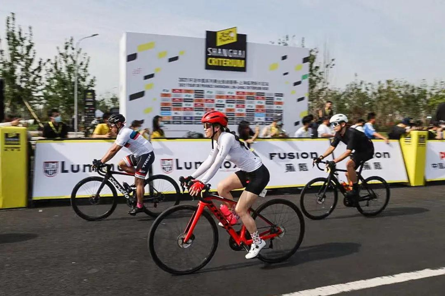 Cycle race staged in Lingang area-3.jpg