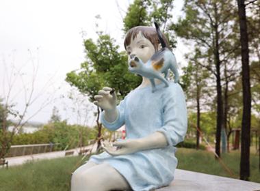 Dishui Lake sculpture park enchants in Lin-gang.png
