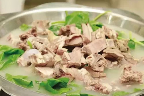 Mutton in stewed soup