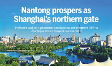 Nantong prospers as Shanghai's northern gate