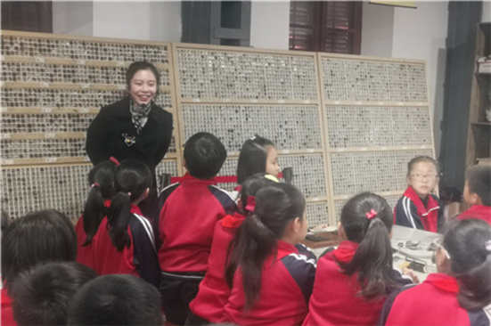 Tangzha pupils attend class on movable-type printing