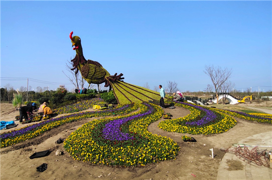 Golden Clam Island scenic area in Rudong takes basic shape