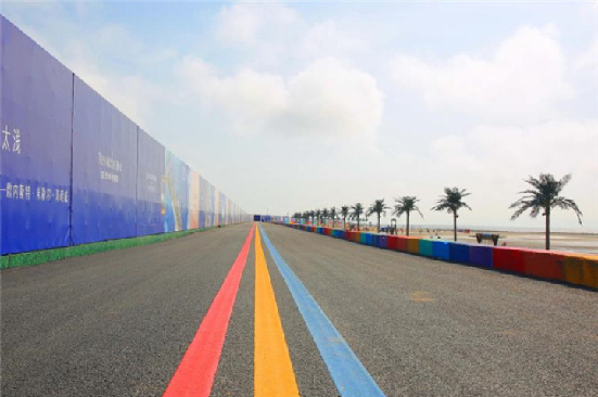 Distinctive seaside tourism landmark under construction in Qidong