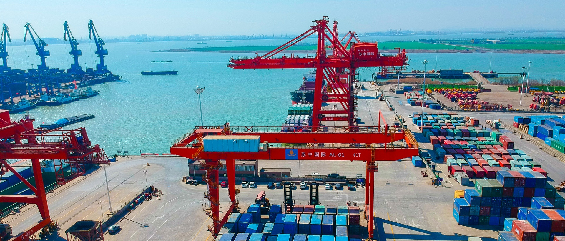 Rugao Port's container throughput exceeds 500,000 TEUs