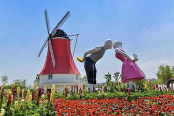 Charming Chongchuan farm attracts May Day holiday visitors