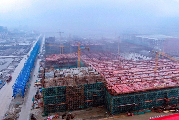 Construction of Yangkou Port polyester project in full swing