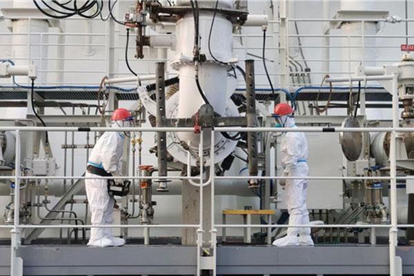 New LNG storage tanks start work at Yangkou Port