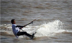 Kitesurfing tournament kicks off in Golden Beach Scenic Area