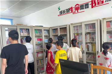 Yinyang town enriches people's life via rural library