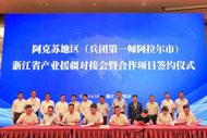 Zhejiang signs big projects to support Xinjiang development