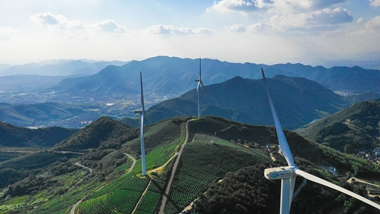 Windmill roads for drive or hike in Ningbo