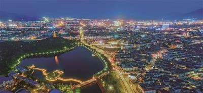 Xiangshan's enchanting nighttime scenery