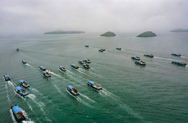 National angling contest held in Ninghai Bay