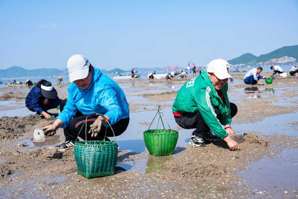 Come forage coastal waters in Ninghai Bay