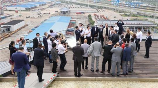 Foreign ambassador delegation impressed by Ningbo-Zhoushan Port