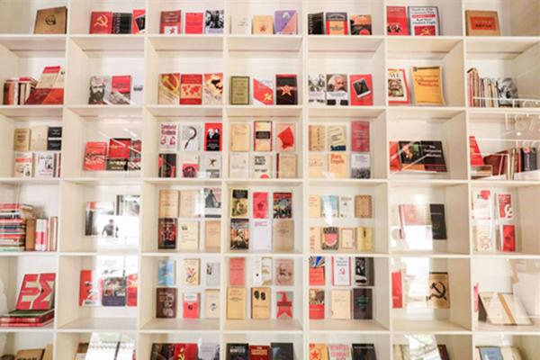The Communist Manifesto on display in Tianyi Pavilion