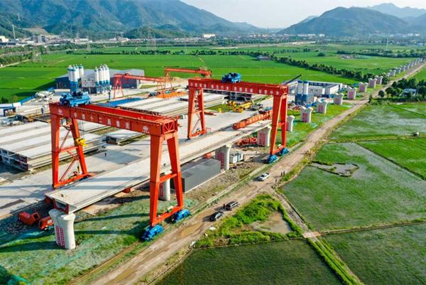 Construction of Jinhua-Ningbo railway in full swing