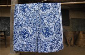 Production technology of blueprint cloth