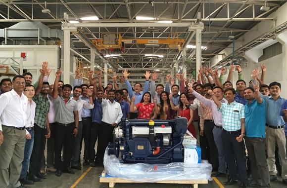 潍柴印度工厂生产的发动机第一次出口国外.jpg