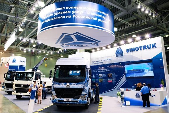 中国重汽产品在2015年6月举行的俄罗斯国际建筑及工程机械展(CTT).jpg