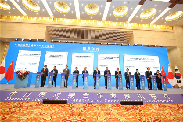 Shandong deepens cooperation with Japan, South Korea