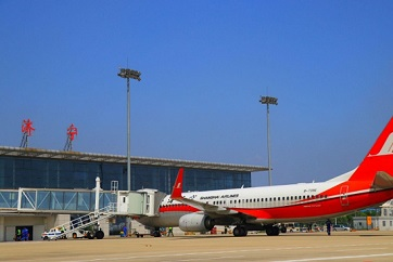 Jining airport links with 25 major domestic cities