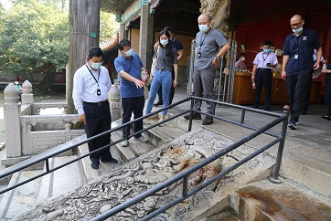 Cave temples, carved stones protection base opens in Qufu