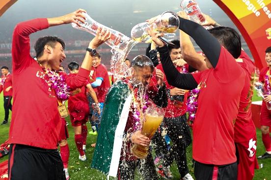 Shanghai SIPG celebrates CSL championship with Tsingtao Beer
