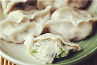 Dumpling stuffed with Spanish mackerel (鲅鱼水饺/Ba Yu Shui Jiao)