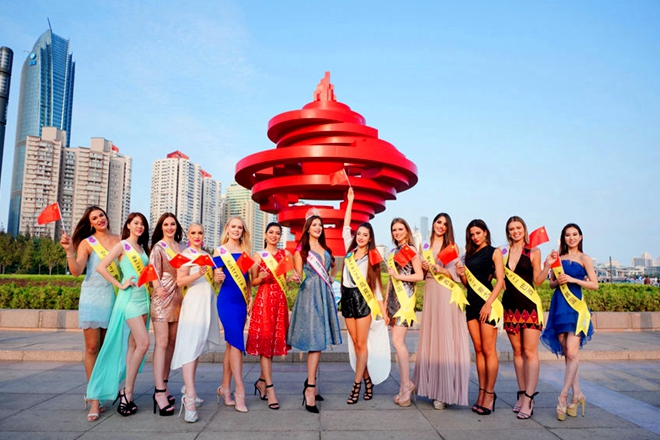 Miss Tourism World contestants debut in Shandong