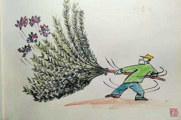 Shinan worker creates comics themed around epidemic prevention