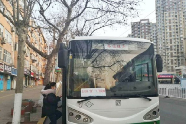 Customized bus route opened for workers at Qingdao Software Park