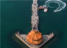 Enjoy great summer at Zhanqiao Pier