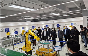 Shinan investigation group visits industrial internet demonstration platform