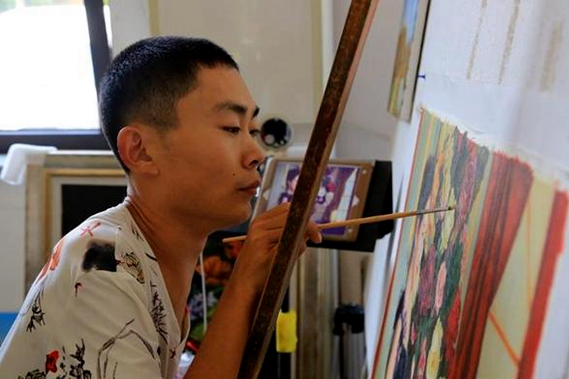 Paintings by man with cerebral palsy sold in Europe