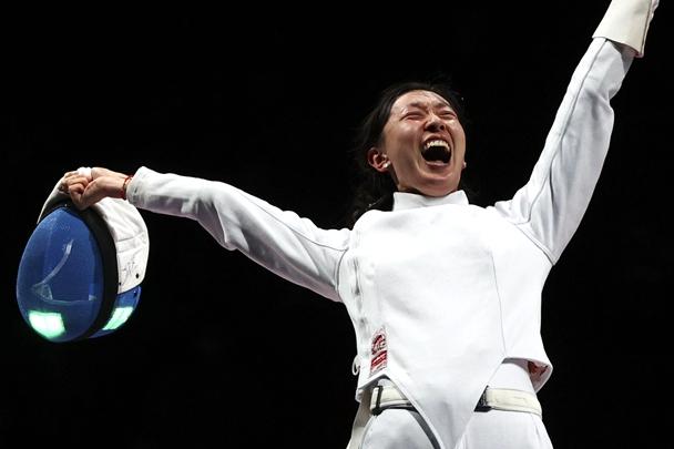 Yantai woman wins epee individual gold at Tokyo Olympics