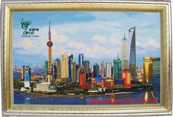 Shanghai woolen embroidery reflects Pudong's development